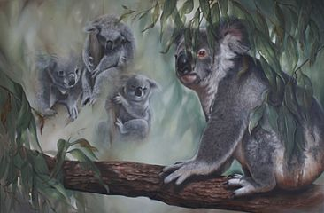 The Face Behind the Eucalypts - Koala by Michelle Caitens