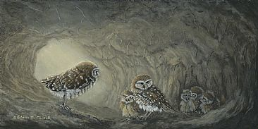 Little Diggers - Burrowing Owls by Patricia Mansell