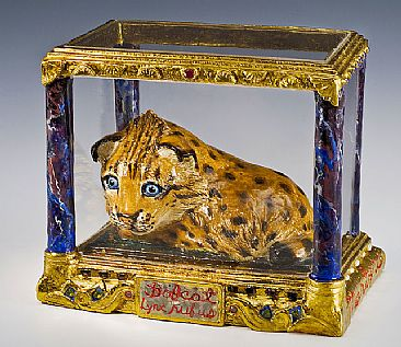 Bobcat Reliquary -  by Tricia Zimic