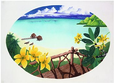 Hawai'i Dreaming - Plumeria By the Bay by Solveig Nordwall