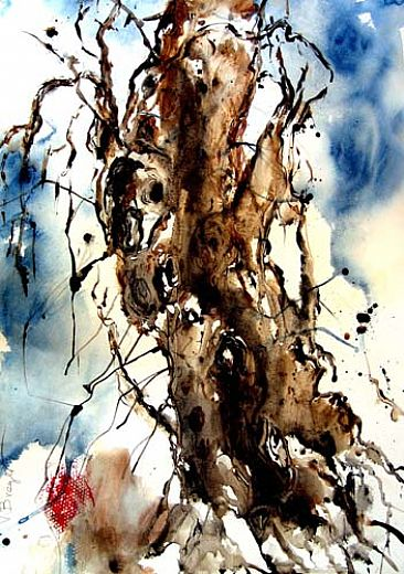 Olive tree - trees by Varda Breger