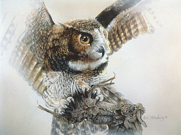 Expressions - Great Horned Owl by Kathryn Weisberg