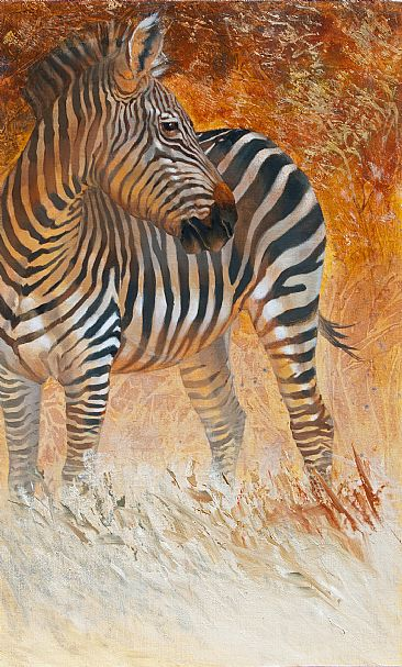 Serengeti Sunset - Plains Zebra by Kathryn Weisberg