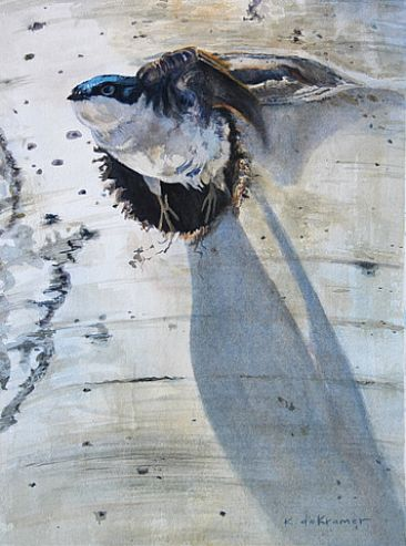 Bug Run - Tree Swallow by Karyn deKramer