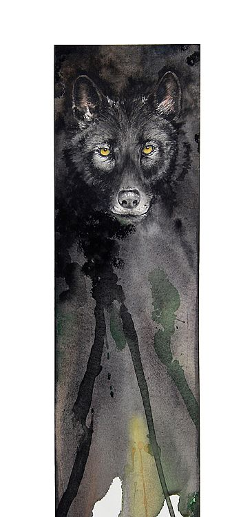 timor vacui I - Black Wolf by Norbert Gramer