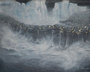 Perseverence - Emperor Penguins by Josh Tiessen