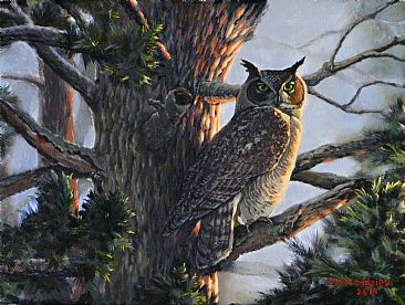 Great Horned Owl - Great Horned Owl by Valentin Katrandzhiev