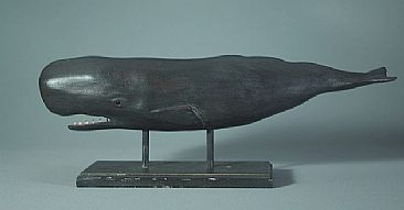 Antique Sperm whale - Contemporary antique Sperm whale by Yves Laurent