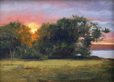Evening's Embrace - sunset by Mary Erickson