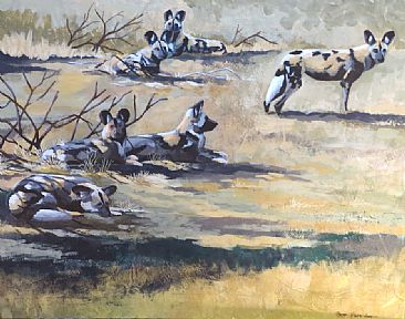Wild Dogs, Kruger - Wild Dogs (Painted Dogs) by Russ Heselden