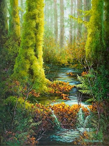 Stream of Life - Temperate rain forest by Patricia Banks