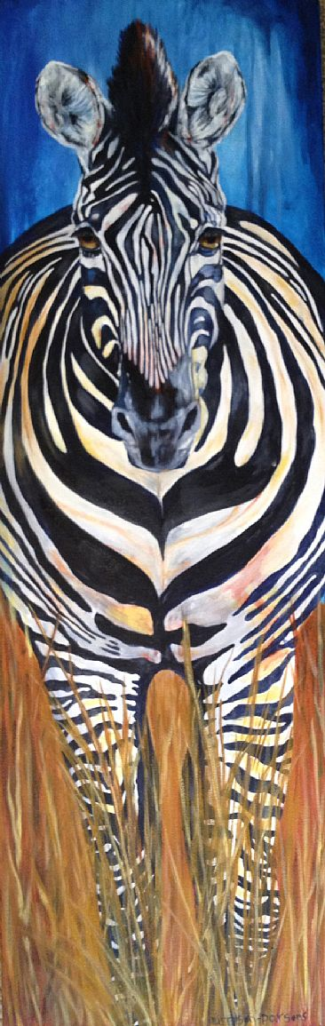Outside The Lines - Zebra by Linda Harrison-Parsons