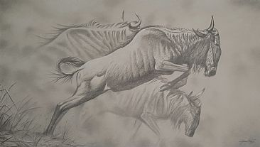 Driven - Wildebeest by Jerry Ragg