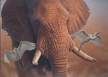Nomad At Dusk - Elephant by Jerry Ragg