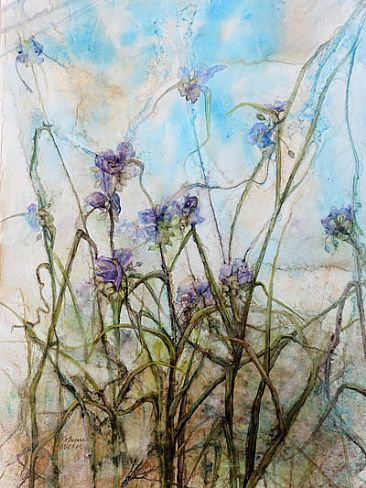 Widow's Tears (Spiderwort) -  by Katherine Weber