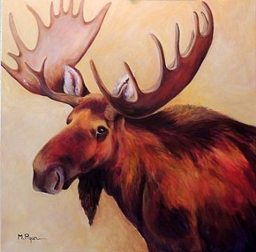 MAJESTIC MOOSE - Moose by Maria Ryan