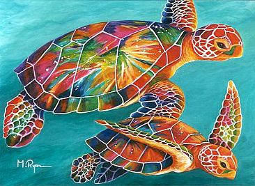 Centurylink Net Login >> sea turtles - Painting Art by Maria Ryan