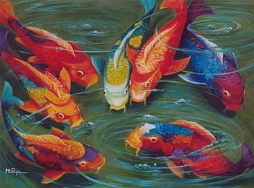 Centurylink Net Login >> Koi Fish - Painting Art by Maria Ryan