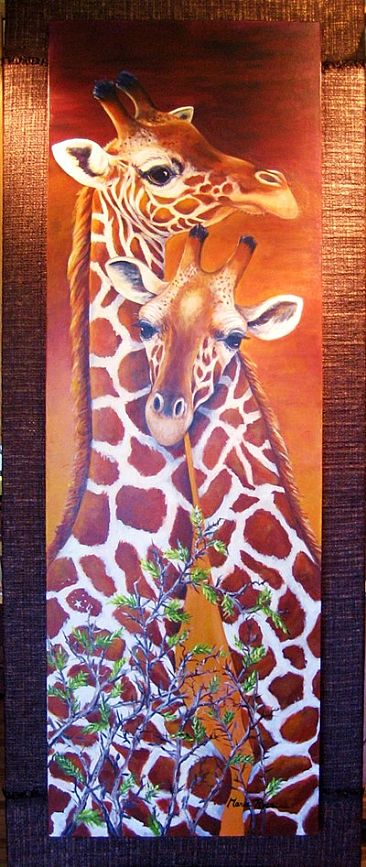 Centurylink Net Login >> Giraffes - Painting Art by Maria Ryan