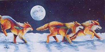 Centurylink Net Login >> Wolves - Painting Art by Maria Ryan