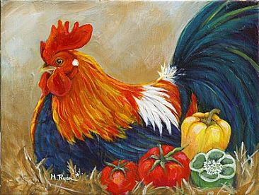 Centurylink Net Login >> Gourmet Chicken Series - Painting Art by Maria Ryan
