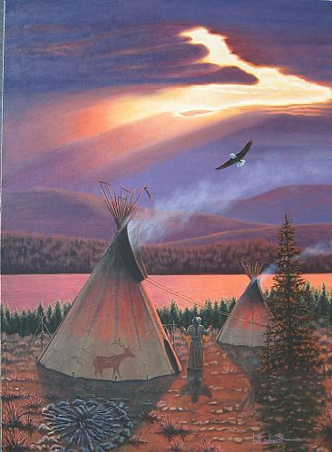 Hole in the Sky - Native American by Bill Scheidt