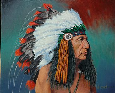 Pride of the Tribe - The Chief of Four Winds Band by Bill Scheidt