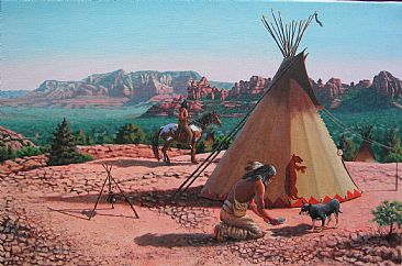 Room with a View - Native American landscape by Bill Scheidt