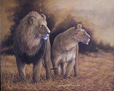 Serengeti Sunrise - lions by Kay Polito