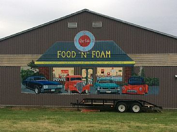 Drive In Diner - Commissioned mural for the Metal barn. by Candy McManiman