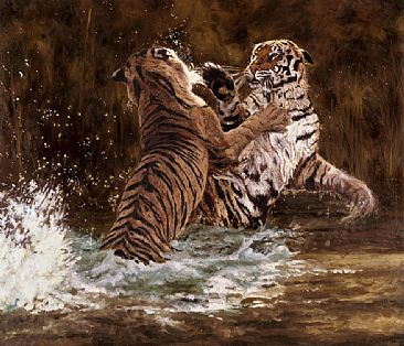 Battle Royale - Bengal Tiger by Linda Besse