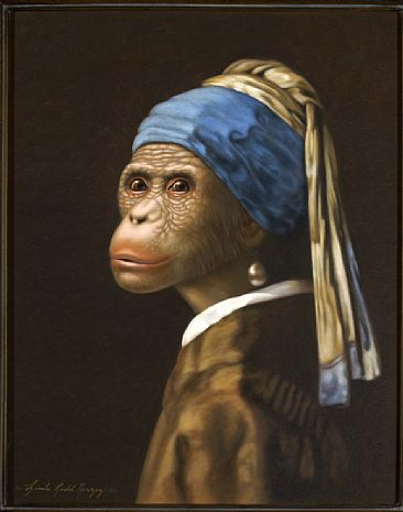 Girl With A Pearl Earring - Bonobo, Girld With A Pearl Earring by Linda Herzog