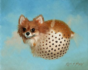 Mr. Chips The Puffer Fish - dog, puffer fish by Linda Herzog