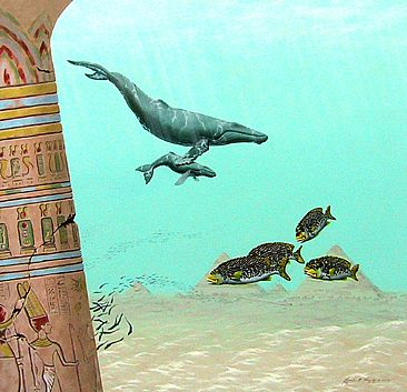 Sands of Time - Egyption ruins, Sweet lip fish and Humpback whales by Linda Herzog