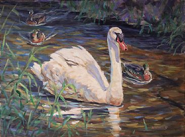 Escorts - Waterfowl by Peggy Watkins