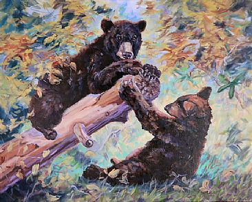 Playmates - Bears by Peggy Watkins