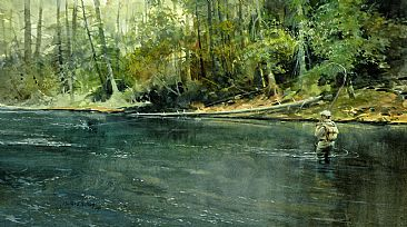Subject Fly Fishing Fly Fisherman Painting