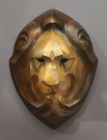 african masks art. Lion Mask - Male African Lion