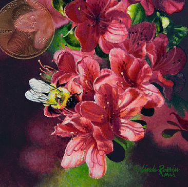 Bee Buffet - Bumblebee by Linda Rossin