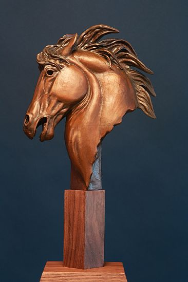 FLAME HORSE  - Horse bust by Chris Navarro