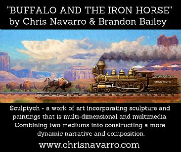 BUFFALO AND THE IRONHORSE (Desert) -  by Chris Navarro