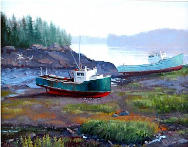 Retired - Downeast Series (Boats) by Robert Kray