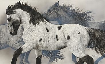 The Ghost Wind - Horse/Native by Judy Larson