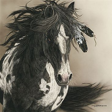 Native Horse Painting Art By Judy Larson