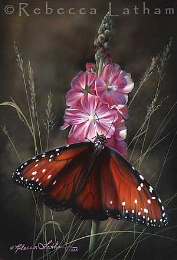 Realistic butterfly paintings - photo#10