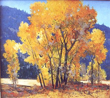 Amber Candles - Cottonwoods by Gregory McHuron
