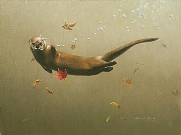 River otter - Otter by Patricia Pepin