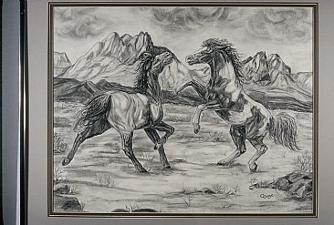 Mountain Battle - Horse by Cindy Gage