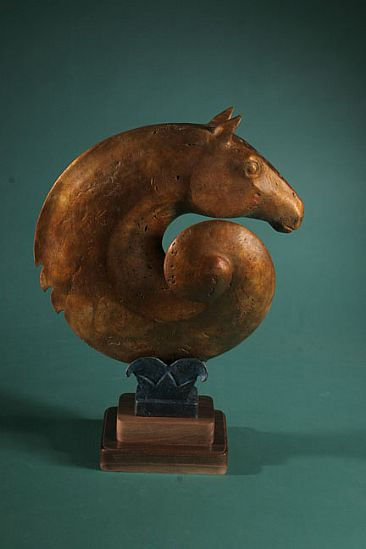 Whirlwind - Stylized Horse by Linda Raynolds