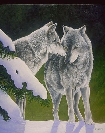 Natures Touch - Wolves by Len Rusin